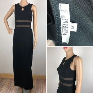 Vintage Rampage Maxi Formal Gown Black Sheath 90s